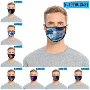 Анти Haze Ткань маска Многоразовый моющийся Mascarilla Респиратор фантастика Печать Iced Шелковый Ультрафиолетовое Proof 2 2Glc D2