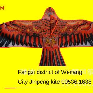 Weifang uçurtma sıcak baskılı 1,8 m Parlak kumaş parlak kumaş düz Kartal çocuk uçurtma
