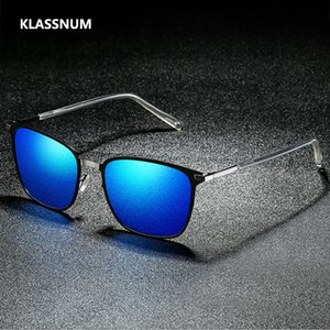 Klassnum 2020 New Square Sonnenbrille Männer polarisierten Sonnenbrillen Retro Vintage-Schutzbrillen Frauen Mode Uv400 Driving Brillen