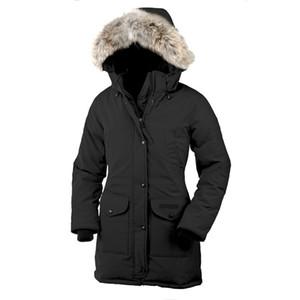 2020 hiver nouvelle marque Canada Femmes Trillium jocket Bomber Down manteau à capuchon chaud de fourrure extérieur coupe-vent parka Doudoune Livraison gratuite