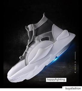 2019 Yeni Y3 Stil Yüksek Top Mens Sneakers Üçlü Siyah Gri Sarı Yüksek Kaliteli Boots Eğitmenler Dış Mekan Spor Ayakkabı Tasarımcısı Chaussures L26