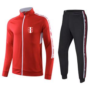 Perú F.C fútbol chándal del traje del deporte del golf al aire libre de las series de entrenamiento de tela alrededor del cuello de la salud ropa cómoda