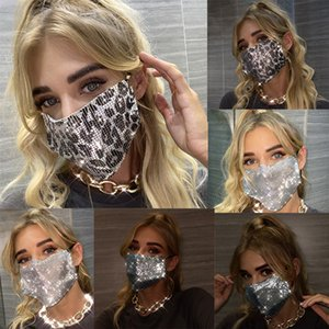 designer face mask Rhinestone women girl 19cm*12cm Factory direct 2020 European and American Amazon women's new heavy metal jewelry mask