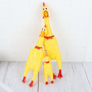 Pets Dog Toys Screaming Chicken Squeeze Sound Toy Dogs Super Durable & Funny Squeaky Yellow Rubber Chicken Dog Chew Creative Toy CY BH2384