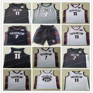 MEN نتسمدينة بروكلين 11 ايرفينغ 7 ديورانت المدرسة الثانوية Kyrie كيفن جيرسي كلية كرة السلة الفانيلة 02