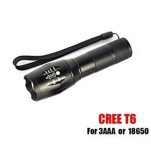 G700 E17 CREE XML T6 2000Lumens High Power LED Yakıcılar Zoomable Taktik LED fenerleri Torch Işık
