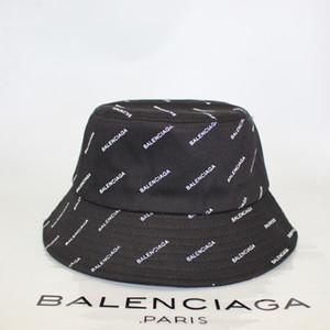 balenciaga cap hat sombrero de los hombres y de las mujeres sombrero de moda cuenca aleros corta del todo-fósforo blanco y negro color sólido completo de pescadores de impresión