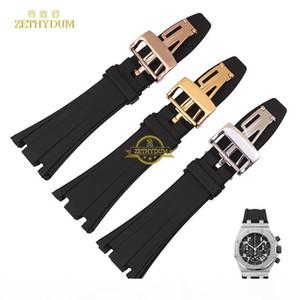 Silikon-Gummi-Armband-Armband-Armband Sport Watche Band 28mm Uhrenarmband Für Ap Uhren Armbanduhren Gürtel Schraube T190620