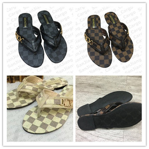Fashion Frauen Pantoffel die PU-Leder Flip-Flops Flacher Loafers Designer Schuhe Sandalen mit flachem Boden Rom Badeschuhe E31309