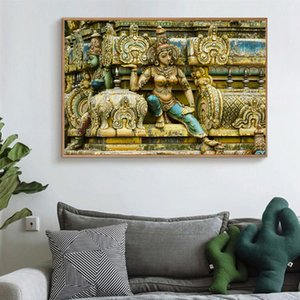 Indien Vikings Indian Buddha Hindu Gott Religion Wandmalerei Leinwand-Malerei Bild Kunst auf Leinwand Anstrich für Wohnzimmerwanddekoration