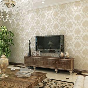 Embossed retro nonwoven wallpaper 3D wallpaper background wall bedroom living room Roll W60