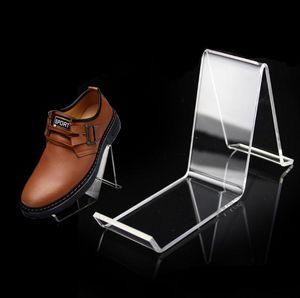 Mode acrylique transparent Shoe Holder Rack Simple Shoes Présentoir étagère en gros SN1819