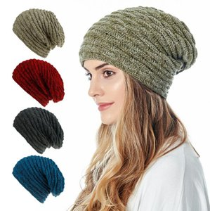 INS New knitted hat with plush warm ear cover Hat Wool Baotou hat factory direct sales 8 COLORS