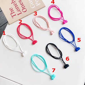Tape Soft Silicone Anti Dropping Rope Earphones for Airpods 1 2 3 Pro Anti-lost Rope Compatible with A Variety of Headphones