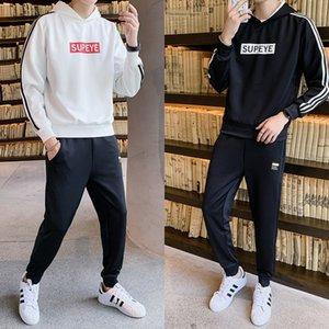 pantalones casuales SoxNO deportes de los hombres de traje con capucha pantalón casual manga larga otoño imprimen 2020 nuevo jersey con capucha de los hombres