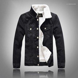 Casual monopetto Pocket Mens Agnello lana Jean cappotti Maschi Abbigliamento Solid Color Designer Mens Jackets Jean