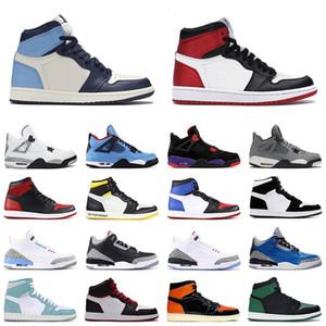 Le plus récent Meilleur Haut Bas 1 11 13s Jumpman Flints Bred Hare Court Toe Royal Purple Sneakers Entraîneur Enfants Femmes Hommes Chaussures de basket-US13