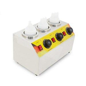 Elektro-Triple-Soße-Flaschen-Wärmer Hot Chocolate Käse Schokolade 3 Flaschen Warming-Maschine Spender Melter Maschine