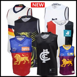 ventas calientes mejor calidad 2020 2021 AFL camiseta de Liga singlete Carlton Blues Adelaide Crows Collingwood Richmond Tigers Hawthorn Hawks jerseys