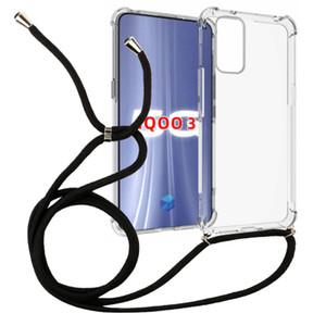 1,5mm Thicken transparent antichocs Collier crossbody Longe 160cm cas de corde TPU pour VIVO IQOO 3 téléphone cellulaire couverture