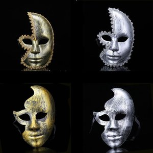 Hanzi_masks Party Halloween masques effrayants bricolage blanc facial cosplay mascarade Mime masque Masques balle Costume Party