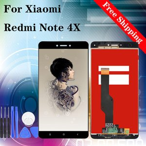 "5.5 ""LCD ذات نوعية جيدة لXIAOMI Redmi ملاحظة 4X LCD شاشة عرض تعمل باللمس استبدال محول الأرقام الجمعية أسود أبيض"