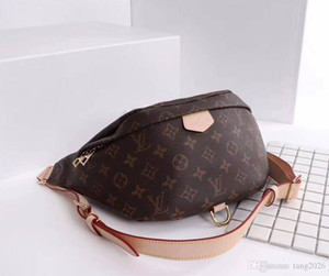 Оптовая Новая мода Pu Leather Brown цветок сумки Женские сумки Дизайнерские Фанни пакеты Известные талии сумки сумка сумки Lady Пояс Грудь