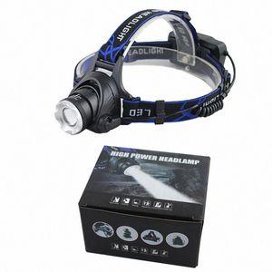 Außenzoomable XML T6 LED Fahrrad-Licht-Fahrrad-Frontseiten-Lampen-Fackel-Scheinwerfer USB aufladbare eingebaute Batterie LED Scheinwerfer fyCg #