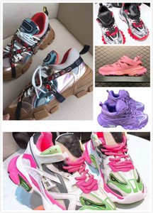 Dolce&Gabbana Dolce Gabbana Shoes Pista 2 zapatillas de deporte 19FW pista2 blanco con cordones de la dama de jogging zapatillas de deporte Triple S Chaussures Senderismo