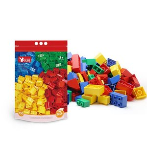 150pcs Children DIY Creative Compatibility Toys Development Intelligence Big Particle Building Blocks Primary Construction For Kids Gift