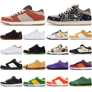 SB Dunk zapatos para los hombres de las mujeres bajo el programa Pro moda corte Travis Scotts Brasil pana melocotón polvoriento Deportes zapatillas de deporte para hombre