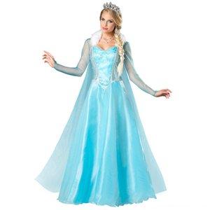 S-XL Cinderella Halloween snow Aisha Play costume service Princess service princess dress Frozen 2 Anna cosplay costume