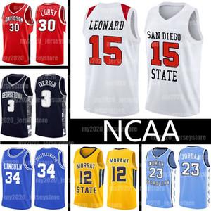 NCAA Kawhi 15 2 Leonard Stephen 30 Estado Curry Jerseys San Diego Colégio 34 Jesus Shuttlesworth Ja 12 Morant LeBron James Basketball 23
