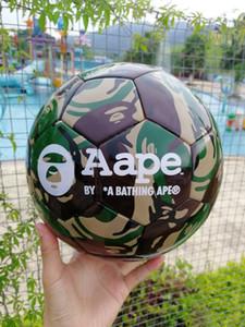 Лето новый подлинный футбол Гонконг сложных полиэфиров Камуфляж размер 5 BATHING APE машина швейная матч игровой футбольный мяч