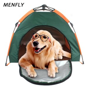 MENFLY Outdoor Pet Tent Automatic Collapsible Cat House Kennel Rainproof Sunscreen Portable Pet Nest Home Bed Tents for Dog