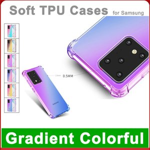 High quality Shockproof Air TPU Case for Samsung A40 21S A50 50S A60 M40 A70 A70S Gradient Color Back Cover Soft Transparent Cases
