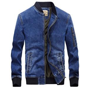 Jeansjacke Männer neue Art und Weise Herbstmann Jeansjacke Marke ZHAN DI JI PU Mantel Jaqueta masculina casaco masculino bestickt