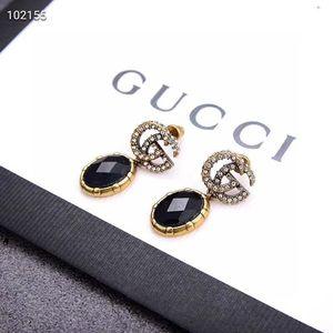 G luxury designer jewelry women earrings black pearls designer beaded earings formal hanging designer earrings for wedding