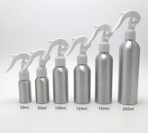24 x 30 ml 50 ml 100 ml 120 ml 250 ml 150 m leere Aluminiumaluminiumflaschen mit Trigger Sprayers1OZ 5OZ Aluminiumbehältern