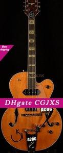 Gre G6120dsw Vintage-Select Edition 1962 Chet Atkins Country Gentleman orange Hollow Body Jazz E-Gitarre Gold-Pickugard Bigs Brücke