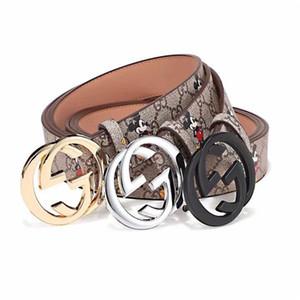 Designer Brand Cintura in pelle Uomo Donna Oro Argento a mano polsino di alta qualità degli uomini casuali della cinghia dei jeans di moda