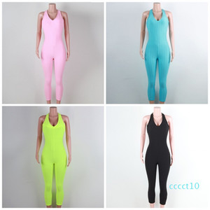 Honeycomb Design Yoga Clothing Backless 6 Colors Sleeveless Fitness Wear Jumpsuit Female Outdoor Rompers Apparel S-Xl 39mgct10