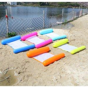Mode flottant lit gonflable Mesh flotteur Raft Fold eau Hamac Salon Piscine Jeu de plage outils populaires 12gd D2
