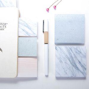 blocs-notes couleur marbre Remarques auto-adhésif Memo Pad Notes autocollantes Bureau à domicile école LX2947 blocs-notes
