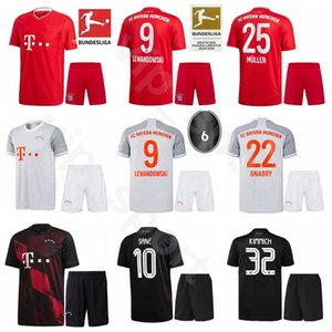 20 21 Futebol Bayern de Munique 25 Thomas Muller Jersey Set 18 Leon Goretzka 19 Alphonso Davies Serge Gnabry Benjamin Pavard Futebol shirt Kits