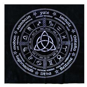 Board Divination Tarot Tarot Table Of Triquetra Cloth Heidnisches Rad Astrologie Tischdecke Jahr täglich für Cloth Magicians-Karte Die qylfcn