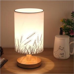 Современные древесины привели стол свет Спальня Тумбочка лампа для чтения LED Настольная лампа Гостиная Ресторан обучения Свет стола Освещение