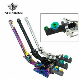Universal Hydraulic Horizontal Rally Drifting E-brake Lever HandBrake SILVER BLACK NEO CHROME PQY3633 znGU#