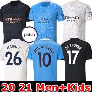20 21시 축구 유니폼 2020 2021 사람 STERLING 축구 셔츠 맨체스터 KUN 아궤로 DE BRUYNE GESUS 베르나르도 메바 아케 FERRAN 남자 아이