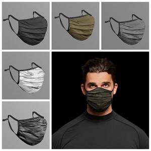Camouflage Visage Masque Mode respirant anti-poussière lavable réutilisable rapide Masques à sec Masque unisexe maille cyclisme CCA12463 120pcs